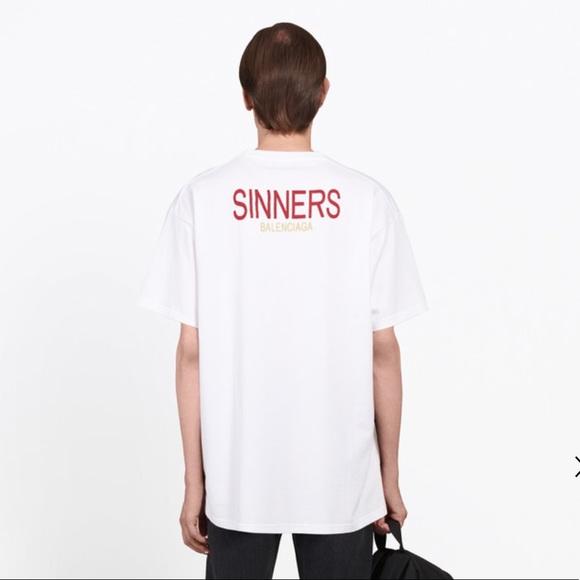 60e4eb96b259 Balenciaga Shirts | Sinners Oversized Tee | Poshmark